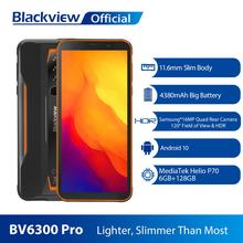 BLACKVIEW BV6300 Pro Helio P70 6GB+128GB Smartphone 4380mAh Android 10.0 Mobile Phone IP68 Waterproof Rugged Phone Cellphone