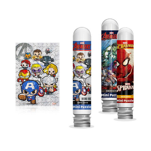 Disney Avengers 150 piece test tube puzzle mini piece Game Toys for Children Adults Learning Education Brain Teaser Jigsaw 1