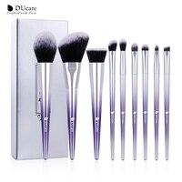 DUcare 9 шт. набор кистей для макияжа, пудра, тени для век, тональный крем, кисть для бровей, косметические кисти для макияжа