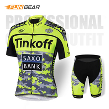 Tinkoff Pro Team Cycling Jersey set Clothing Triathlon Mens Bib Shorts Summer Suit Roupa Ciclismo Bike Uniform