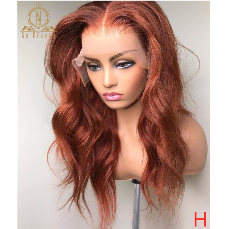 Ginger Orange Wig Human Hair Wig Colored 360 Lace Frontal Wig Body Wave Full Lace Human Hair Wigs For Black Women Nabeauty 150%
