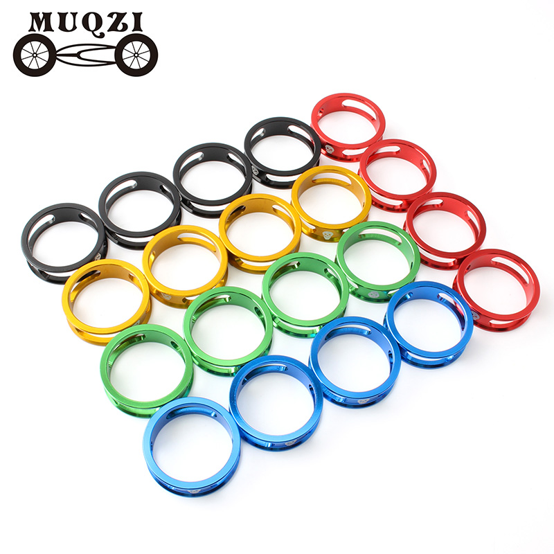 MUQZI 4Pcs 10mm Bicycle Headset Stem Spacer 28.6MM MTB Road Fixed Gear Folding Bike Cycling Aluminum Alloy Washer Fork Gasket(China)