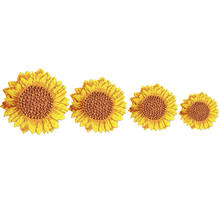 floral Embroidered Sun Flowers Patches Sew Iron On Badges Yellow Daisy For Bag Jeans Hat T Shirt DIY Appliques Craft Decoration(China)