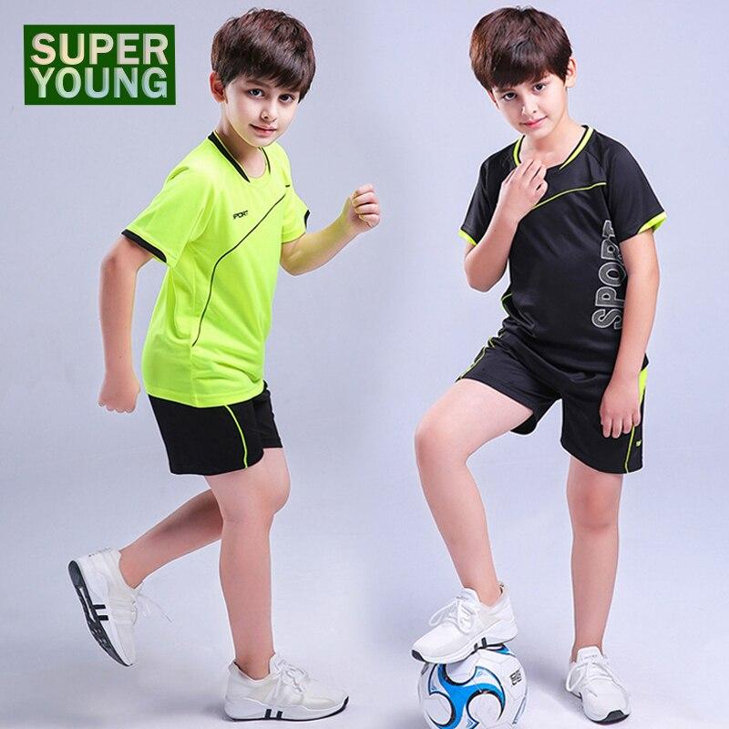 Kids Boy Running Shirt Fitness Sport Shorts Jogging Suits For Men Workout Football Jerseys Children Tracksuit Soccer Uniform Set