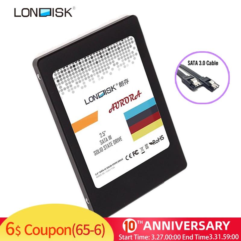 LonDisk Original SSD 120GB 240GB 480GB 960GB 2.5 Inch SATA III HDD Hard Disk HD SSD Notebook PC 120 240 480 960 G Internal Solid