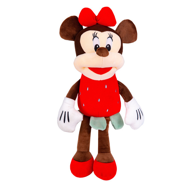 Cute Mickey Minnie Mouse Plush Doll Toy Fruit Minnie Stuffed Doll Cushion Pillow Strawberry Pineapple Minnie Toy for Kid Gift