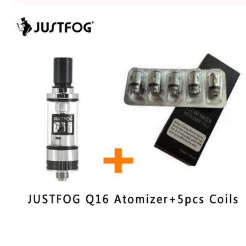 5pcs JUSTFOG Coil Head VS JUSTFOG Q16 Tank Core 1.2ohm 1.6ohm For Justfog C14 Q14 Q16 P16A P14A Kit Justfog E Cigarette VS P16A
