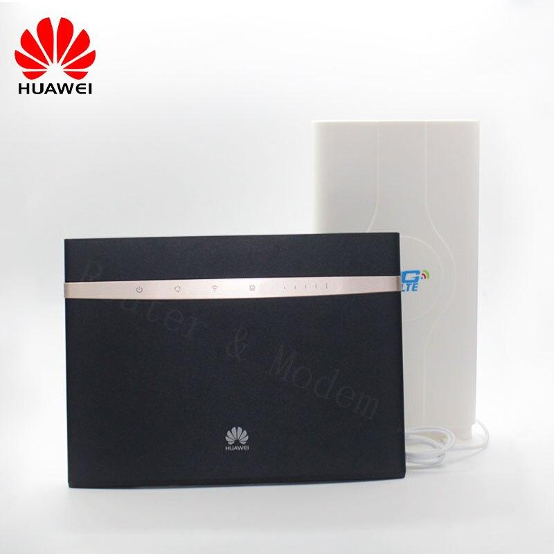 Desbloqueado Huawei B525 B525S-23A 4G LTE Cat 6 Mobile Hotspot Gateway 4G LTE WiFi enrutador inalámbrico envío gratis Superbat antena Dual 6DBi omnidireccional enchufe de RP-SMA macho (pin hembra) conector para interior Wi-Fi señal de rango inalámbrico