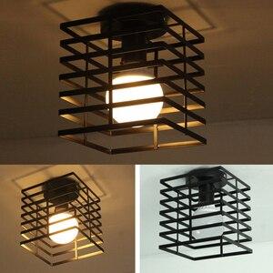 Image 5 - Moderne Nordic Zwart E27 Led Plafondlamp 85 240V Ac Lampen Voor Keuken Woonkamer Slaapkamer Veranda Balkon hotel Restaurant