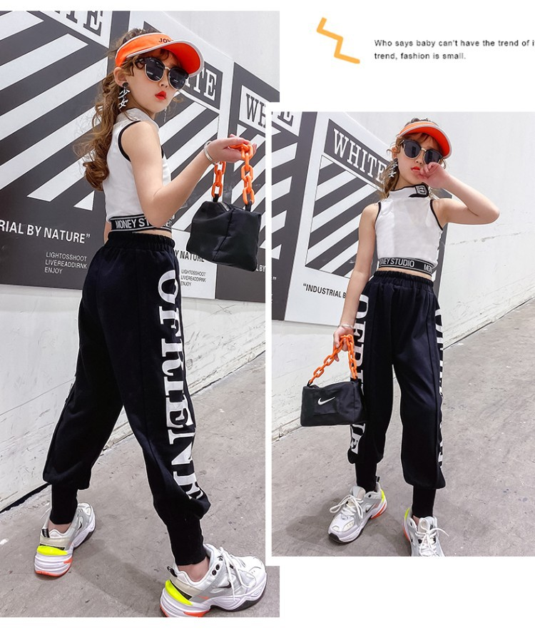 Cotton Youth Pants For Girl Boy Casual Active Sport Pants Jogging Kids Children Trousers Teenage Teen Letter Print Jogger Pants