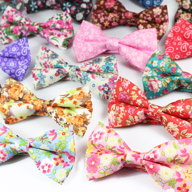 Floral Print Mens Bowtie Casual Shirts Bow Tie For Men Women Business Wedding Polyester Bowknot Adult Striped Bow Ties Cravats