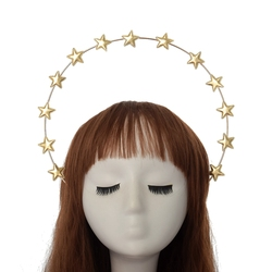 Oro Halo Corona Fascia Santo Stelle Copricapo