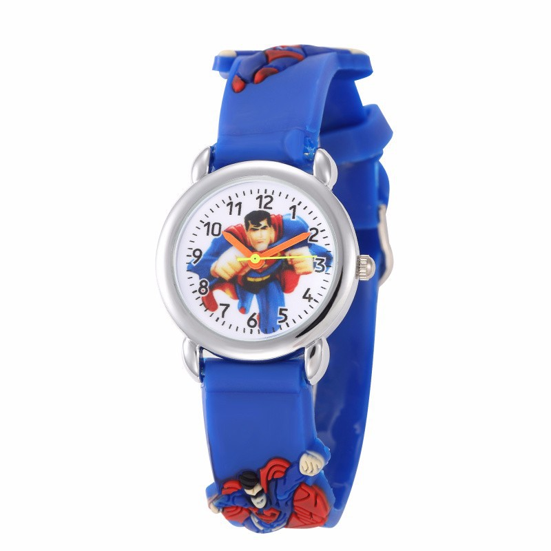 Cute Cartoon Children Watch Girl Creative Superman Pop Kids Watches Boy Quartz Rubber Clock Gifts Horloge Kind Meisjes Horloge