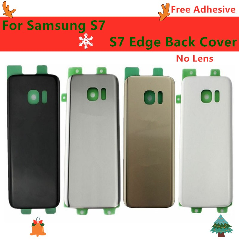 Back Battery Cover For Samsung Galaxy S7 Edge G935F Glass Housing Battery Back Cover Rear Door For S7 G930 Samsung Battery Cover