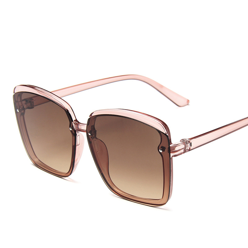 2020 Oversize Square Sunglasses Women Vacation Beach Sun Glasses Luxury Vintage Brand