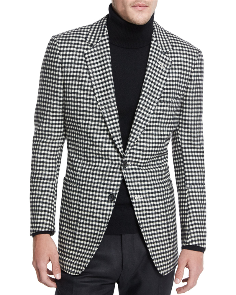 Plaid Slim Fit Mens Blazer New Fashion Fall 2019 Casual Business Style Men Suit Jacket Two Button Male Prom Tops Coat FOVIVA 151