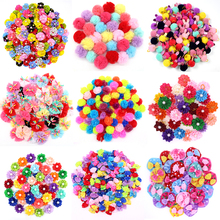20PCS Cute Handmade Small Puppy Dog Hair Bows Pet Accessories Flower Grooming for Dogs Products
