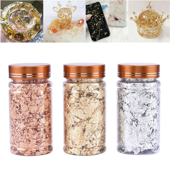 DIY Nail Art Shiny Foil Leaf Gold Flakes Chunky Glitter Body Decor Makeup Art 3D Nail Art Decoration Designs For Nail Accesoires 3d multi designs 1000 pcs 1 bag fruit slices nail art diy designs nail art slices for slicing nail art decoration pb10 1 32