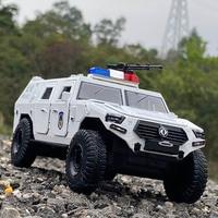 Jeeps-modelo de coche blindado de aleación Refit 1:24, juguete fundido a presión, vehículo todoterreno, tanque, Metal, policía, a prueba de explosiones, regalo para niños