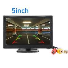"""5 дюймов Автомобильный монитор TFT ЖК-дисплей """" HD цифровой 16:9 800*480 Экран 2 Way видео Вход для заднего вида Камера DVD/VCD/"""