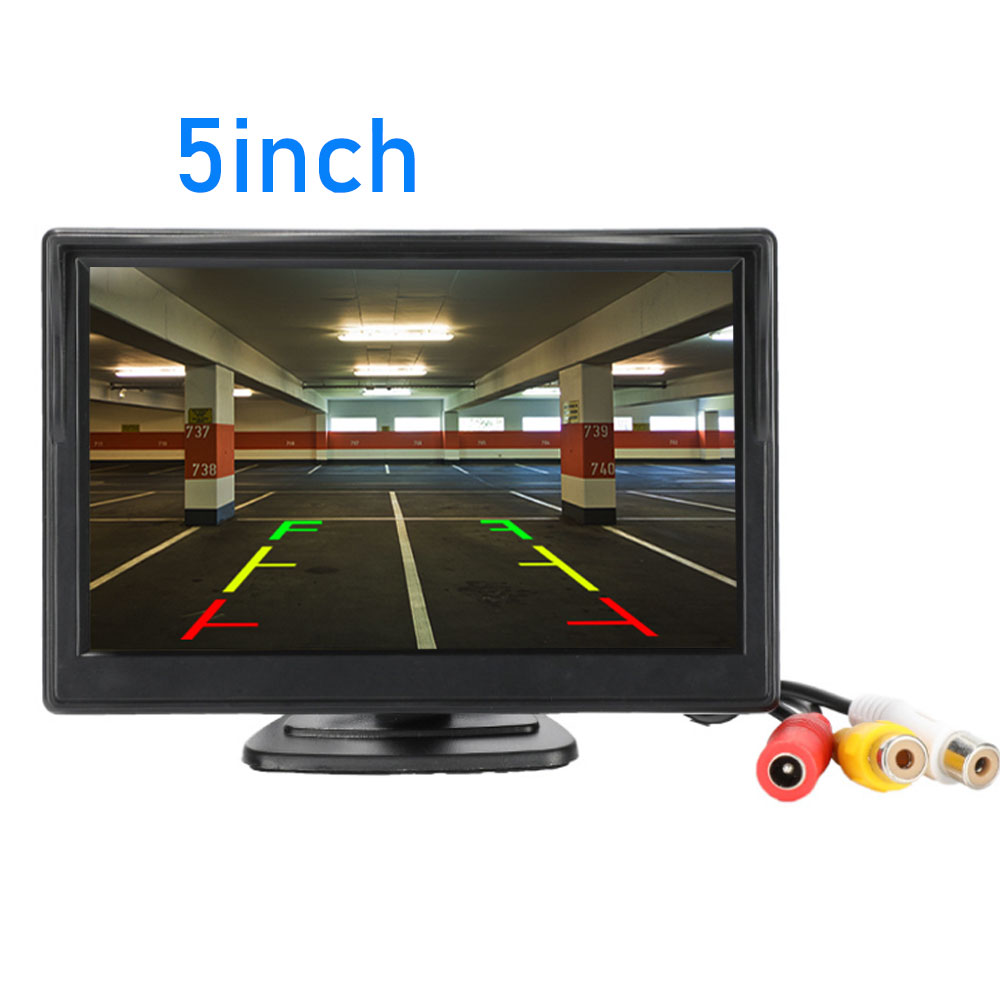 "5 Inch Car Monitor TFT LCD 5"" HD Digital 16:9 800*480 Screen 2 Way Video Input For Reverse Rear View Camera DVD VCD