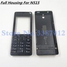 Pil bölmesi kapağı arkası kapak tam konut Case ön Nokia 515 için çerçeve RM 952 ses düğmesi ile İngilizce klavye ile