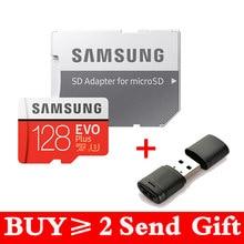 Samsung evo + micro sd 128g sdhc 80 mb/s classe class10 cartão de memória c10 UHS-I tf/sd cartões trans flash sdxc 64gb 256gb para o transporte