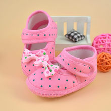 Bowknot Shoes Baby Girls Soft Sole Crib baby girls Shoes Comfortable Outdoor Children FIrst Walk Shoes buciki dla niemowlat(China)