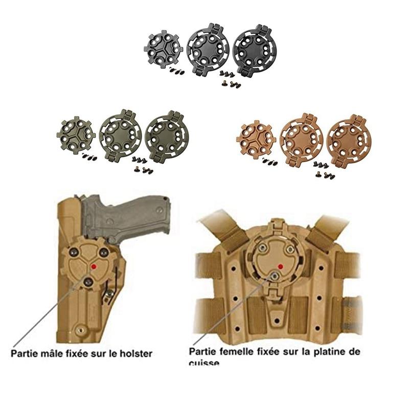 Blackhawk serpa kit de desconexão rápida (2 feminino/1 masculino) para glock 17 19 22 23