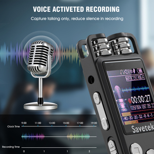Image 4 - Professional Voice Activated Digital Audio Voice Recorder 8GB 16GB 32G USB Pen Non Stop 80hr Recording PCM Support TF Card
