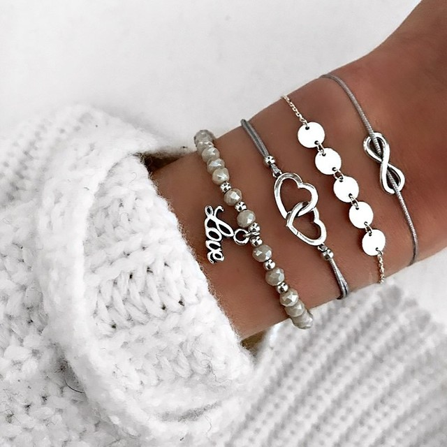 2021 Bohemian Bracelets & Bangles Set Vintage Bead Boho Charm Bracelet For Women Jewelry Accessories Pulseras Mujer Bijoux Femme 5