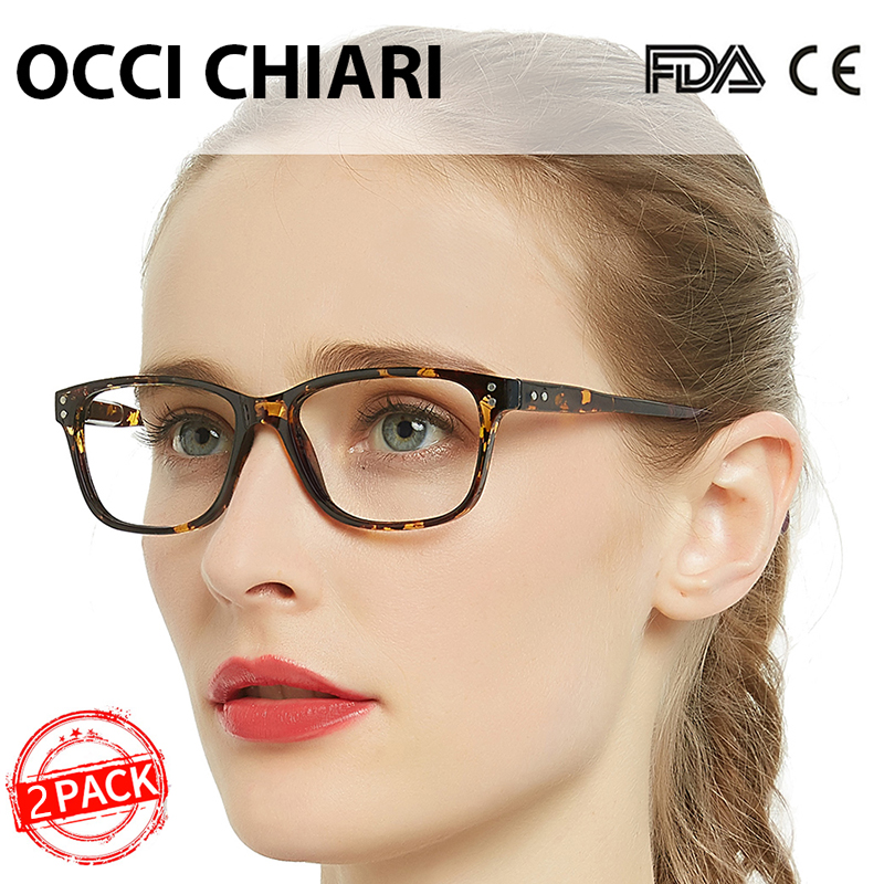 OCCI CHIARI 2 Pack Anti Blue Blocking Reading Glasses Women Multifocal Progressive Eyewear+1.0+1.5+2.0+2.5+3.0+3.5 Gift To Mom