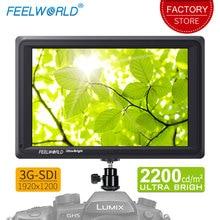 Feelworld FW279S 7 인치 3G SDI 4K HDMI DSLR 카메라 필드 모니터 실외용 초경량 2200nit 풀 HD 1920x1200 LCD IPS