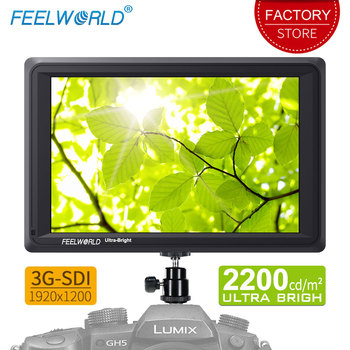 Feelworld 7 inch 3G SDI 4K HDMI DSLR Camera Field Monitor Ultra Bright 2200cd/m2 Full HD 1920×1200 LCD IPS FW279S for Outdoors