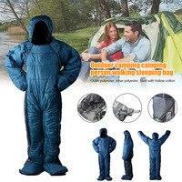 Adult Lite Wearable Sleeping Bag Warming for Walking Hiking Camping Outdoor YA88