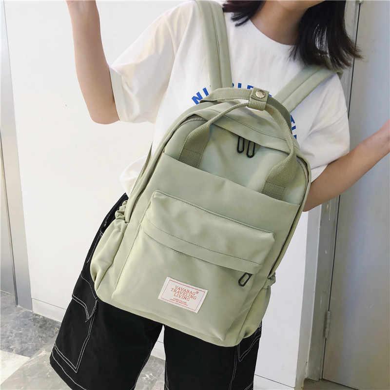 Новый тип двойной рюкзак для женщин хан издание Харадзюку школьников в 2019 простые двойные сумки на плечо