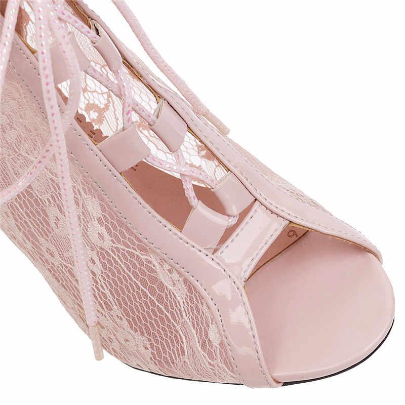 ASUMER 2020 New ARRIVAL ข้อเท้ารองเท้าผู้หญิงบางสูงรองเท้าส้นสูงฤดูร้อนรองเท้า Lace Up Elegant งานแต่งงานรองเท้าสุภาพสตรีขนาด 43