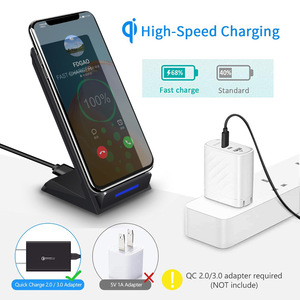 Image 3 - Беспроводное зарядное устройство DCAE 15 Вт, подставка для iPhone SE 2 11 Pro Max XS XR X 8 USB C Qi, док станция для быстрой зарядки для Samsung S20 S10 S9