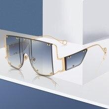 Mode Übergroßen Sonnenbrille Frauen Marke Design Sonnenbrille Männer Vintage Sonnenbrille Luxus Retro Quadrat Sonne Gläser UV400 Shades
