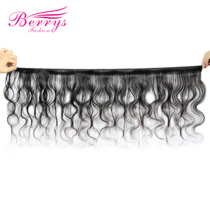 Image 4 - Berrys Fashion Body Wave حزم شعر طويلة 10 32 بوصة شعر عذراء برازيلي 3 حزم شعر بشري غير مُعالج لحمة