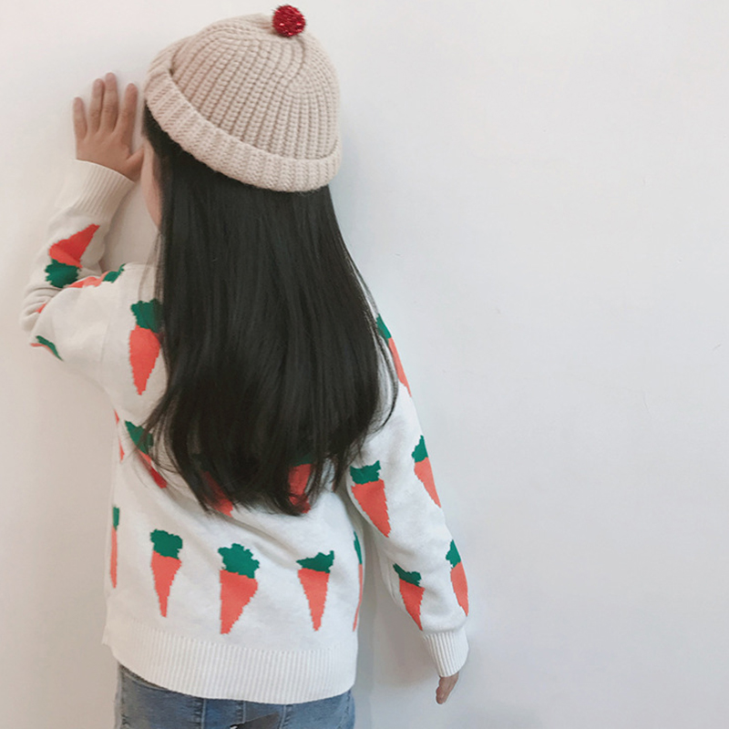 Autumn Kids Cardigans Sweaters Baby Girls Boys Knitted Outerwear Jacket Toddler Cotton Coat Printing Spring Children Sweater 5