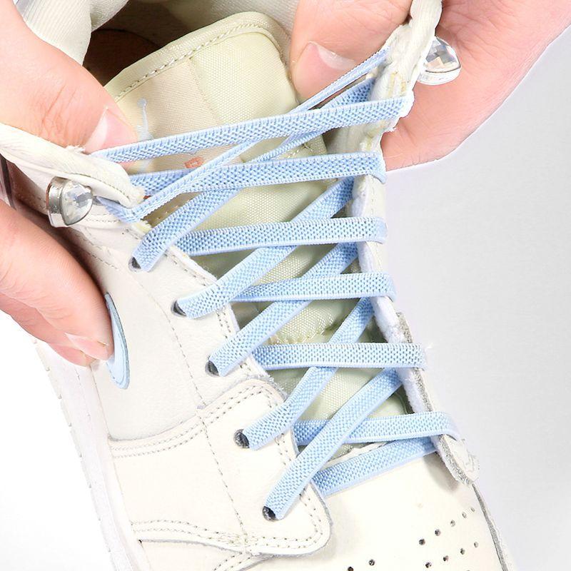 Купить 100 шт эластичные шнурки для обуви с металлической пряжкой