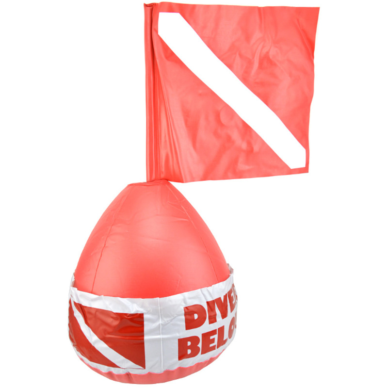KEEP DIVING Red Color Scuba Dive Buoy Surface Marker Inflatable Dive Flag Sign Signal Floating Saft Sign Diver Below