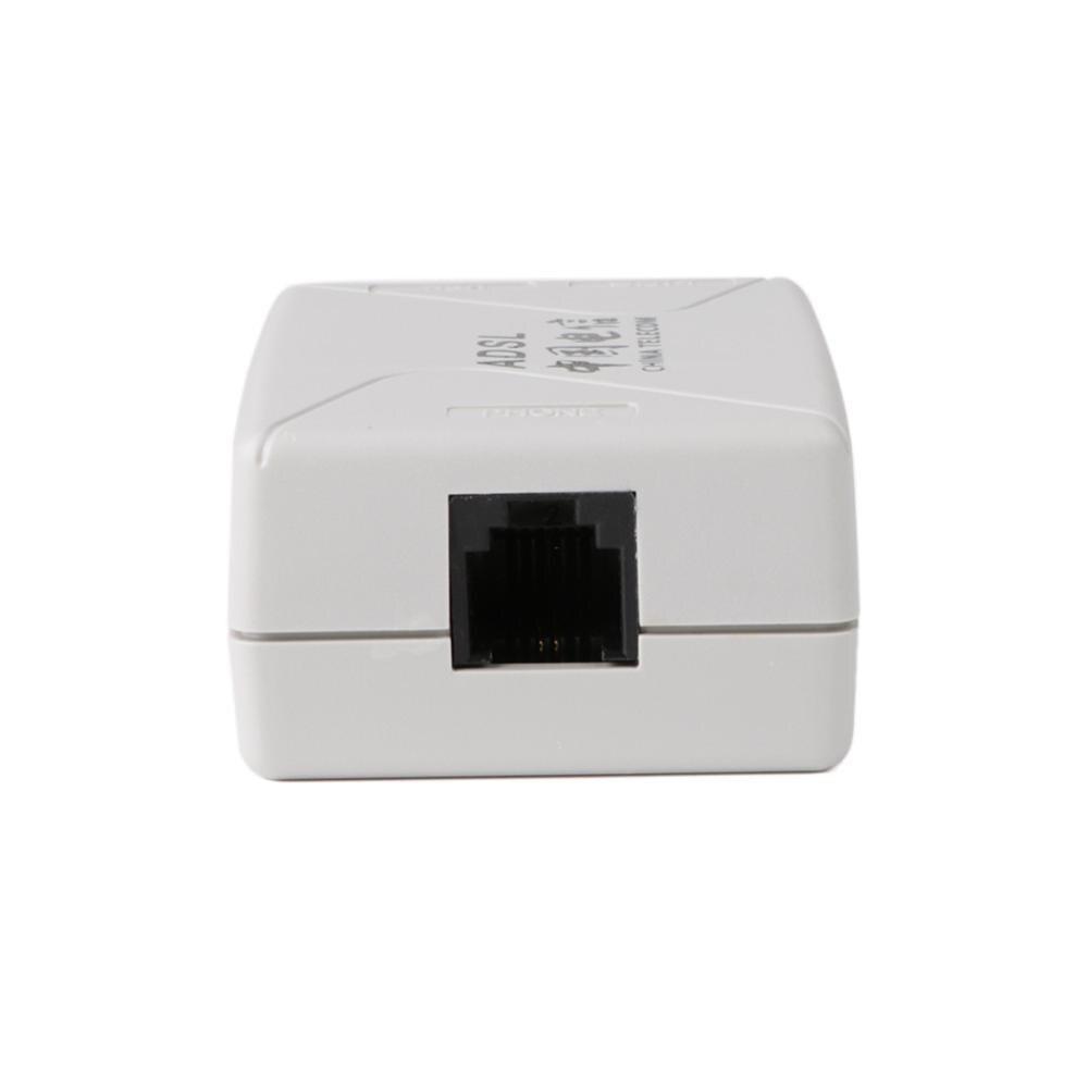 ADSL Broadband Modem Phone Line Splitter Filter RJ11 RJ45 adapter White