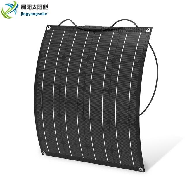 中国工場出荷時の価格 50 ワットソーラーパネル単結晶柔軟なソーラーパネル etfe 50 ワットモノラル太陽電池ソーラーキット 12 12v バッテリー充電器