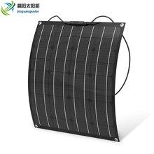 סין מפעל מחיר 50w פנל סולארי Monocrystalline גמיש פנל סולארי ETFE 50w מונו הנייד ערכת 12v סוללה מטען