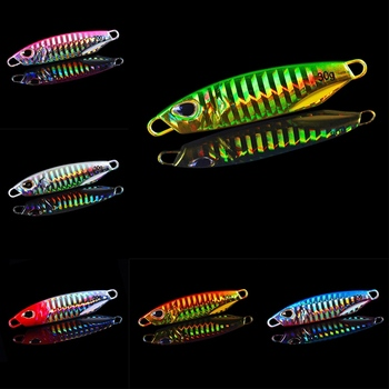 10g/15g/20g/30g/40g/50g Fishing Lures Artificial Bait Reusable Metal Sinking Casting Lure Jigging Spoon Fishing Accessories
