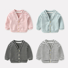Baby Boys girls spring clothes sports striped jacket for new