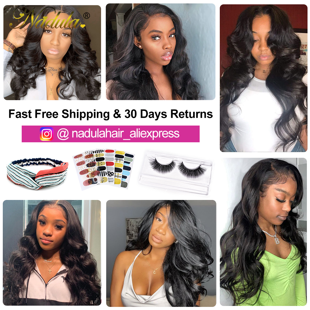 Nadula Hair Lace Closure With Body Wave Bundles   Bundles With Closure  Hair Lace Closure With Bundles 6