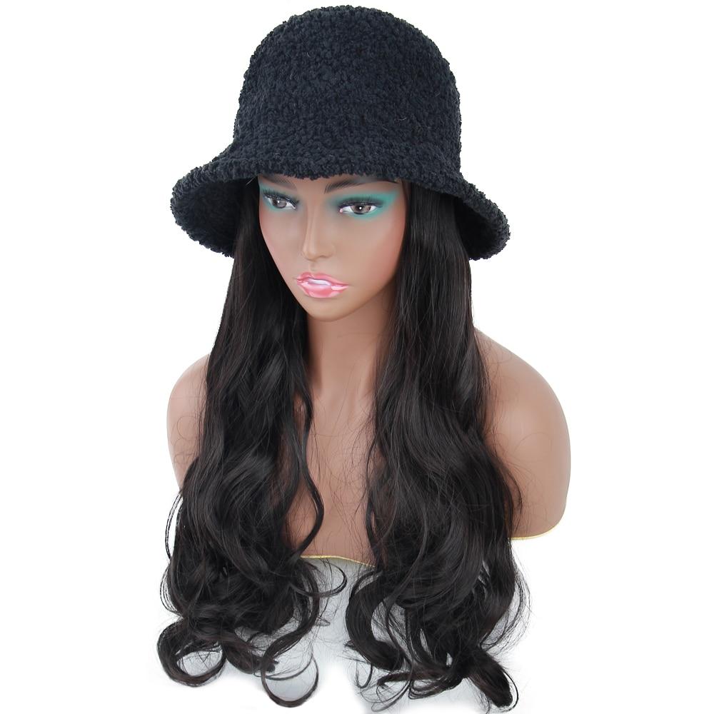 do chapéu do pescador da lã ondulada